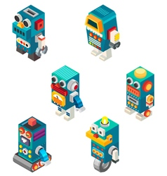 Isometric robots toy vector image vector image