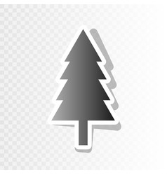 new year tree sign new year blackish icon vector image vector image