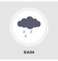 Rain flat icon vector image