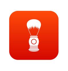 shaving brush icon digital red vector image