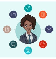 Favorite tools for working managers and business vector