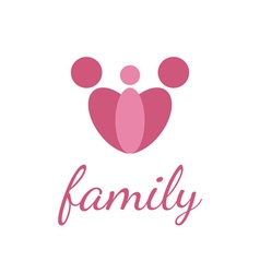 happy family design template on white background vector image