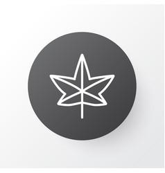 leaf icon symbol premium quality isolated maple vector image vector image