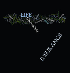 life insurance is it right for you text vector image vector image