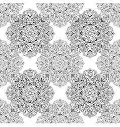 Zentangle Mandala seamless pattern in doodle style vector image