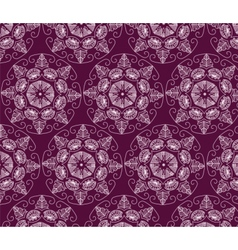 Abstract ornament flower pattern vector