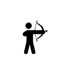 archer flat icon vector image