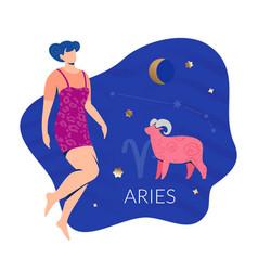 Aries woman zodiac vector