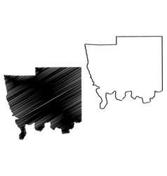 autauga county alabama counties in alabama united vector image