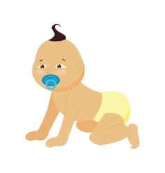 Baby little kid vector image