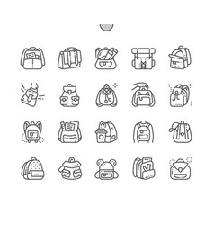Backpack well-crafted pixel perfect thin vector