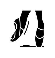 ballet shoes black icon concept vector image