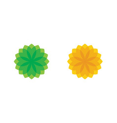 beauty icon flowers vector image