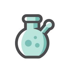 bong smoking pipe icon cartoon vector image