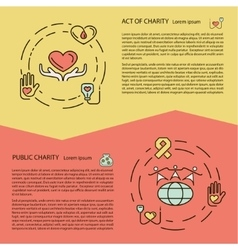 Charity and donation concept set vector