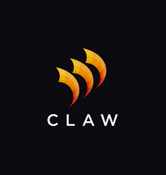 Colorful claw logo icon vector