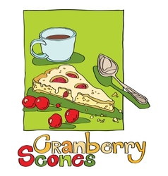 Cranberry scones vector