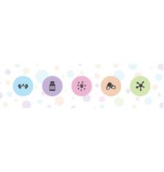 Disease icons vector