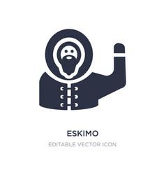 Eskimo icon on white background simple element vector