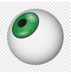 eyeball icon realistic style vector image