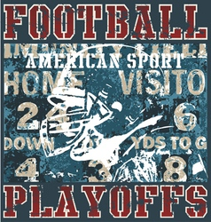 Football playoffs vector