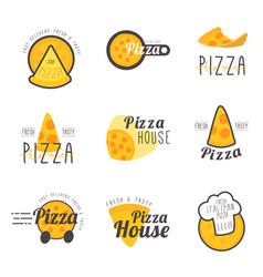 fresh italian pizza vector image
