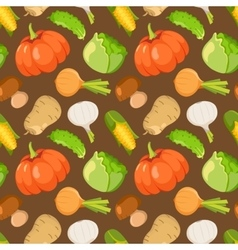 Healty food cartoon seamless pattern vector image