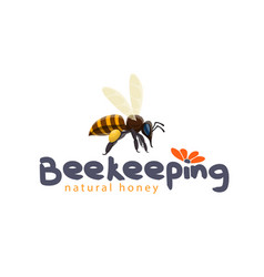 Honey bee icon for beekeeping product vector
