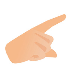 human hand with index finger pointing at something vector image