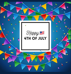 independence day 4th july card design image vector image