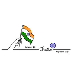 India republic day background web banner vector