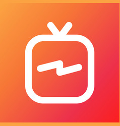 Instagram ig tv logo with colorful background vector
