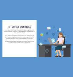 internet business picture vector image