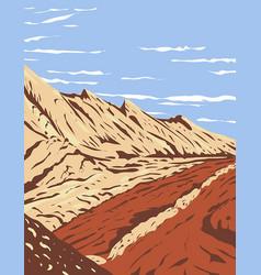 Jurassic navajo sandstone in san rafael reef vector
