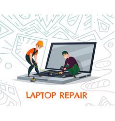 Laptop repair vector