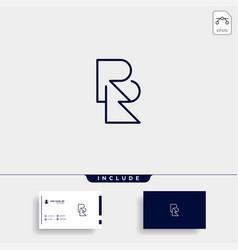 Letter rr r logo design simple vector