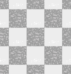 Light gray seamless geometric pattern of squares vector