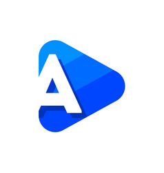 logo letter a triangle vector image