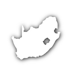 Map of south africa with shadow vector