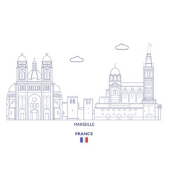 marseille city skyline vector image