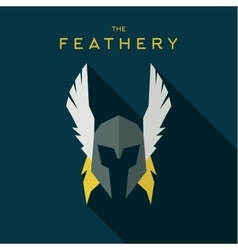 Mask feathery Hero superhero flat style icon vector