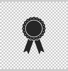 medal badge with ribbons icon isolated vector image