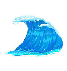 Ocean wave isolated vector