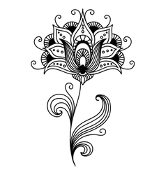 Ornate persian floral design vector image