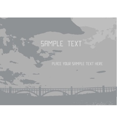 Panorama city with bridge clouds and river vector