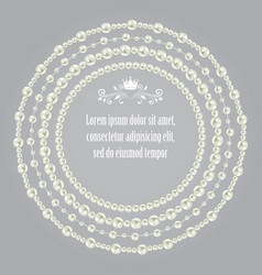 Pearl realistic set collection beautiful round vector