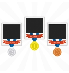 Photo frames with medals vector image