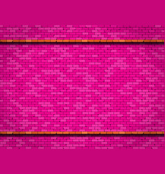 pink brick wall background vector image