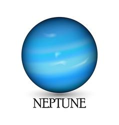 Planet neptune white background vector