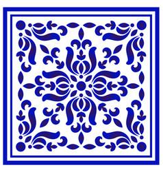 Porcelain floral frame vector